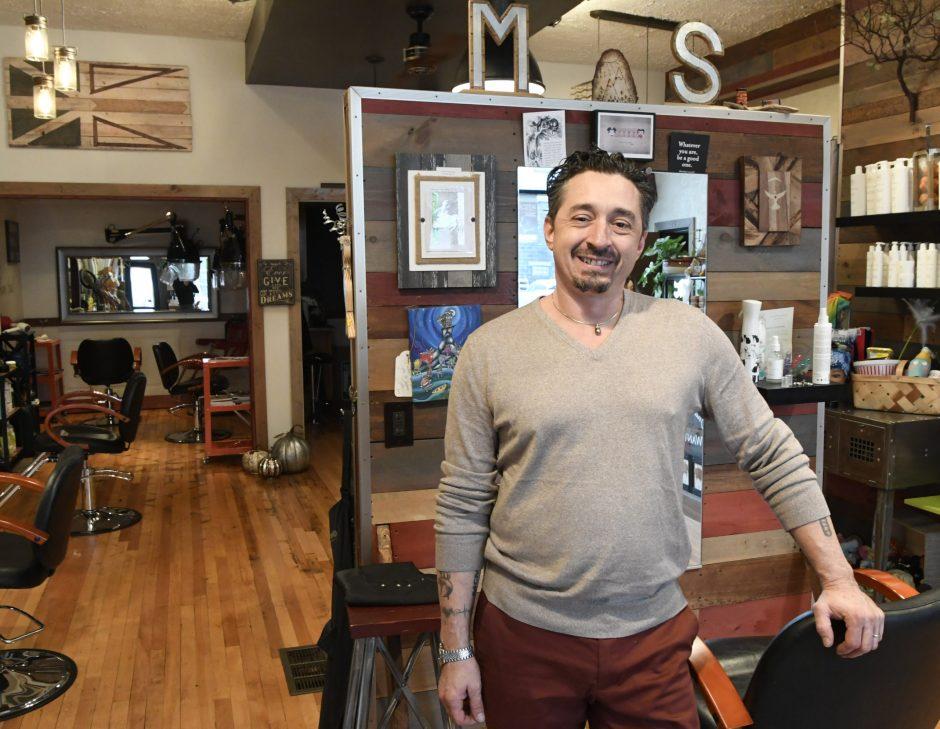 Ron Suriano is shown at his Moisture Salon at 158 Barrett St. He will soon open Clinton Street Groomery.