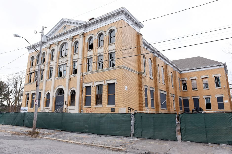 The former St. Mary's School on Irving Street in Schenectady is shown in this photo taken Friday, Nov. 29.
