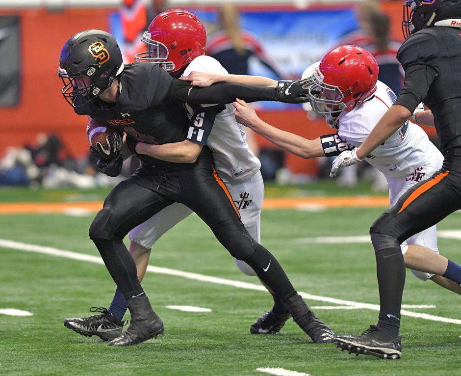 Schuylerville lost to Chenango Forks 38-14 in the state football Class B title game Sunday at the Carrier Dome.