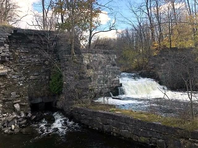 """DEC considers the Harrower Pond Dam, located off of Pioneer Road in the Town of Amsterdam, to be a """"high hazard"""" dam."""