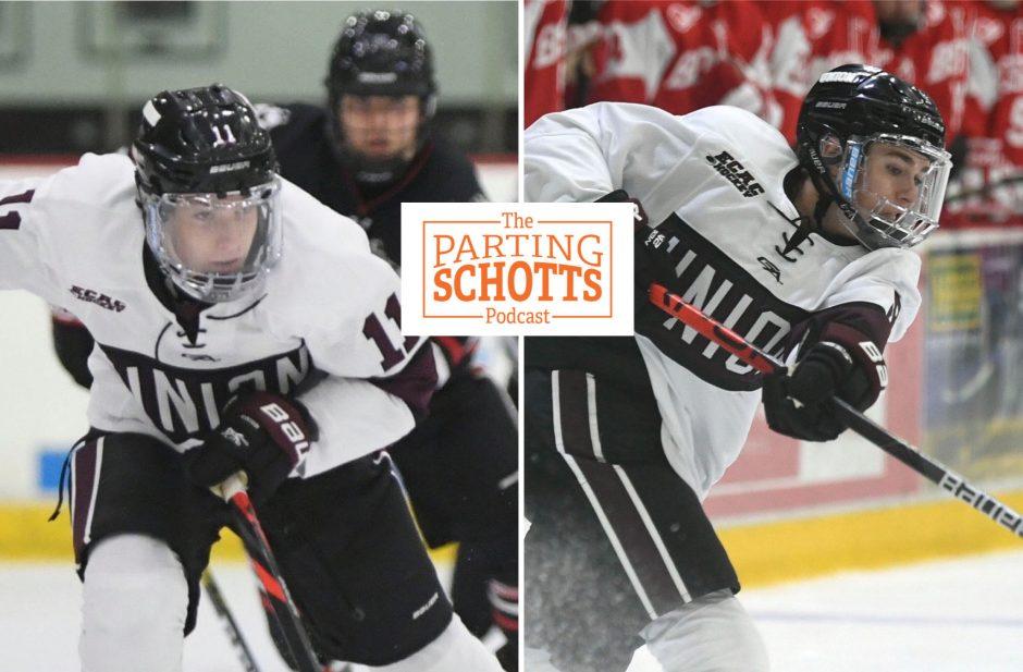 Sophomore forwards Lucas Breault, left, and Sam Morton left the Union hockey team.
