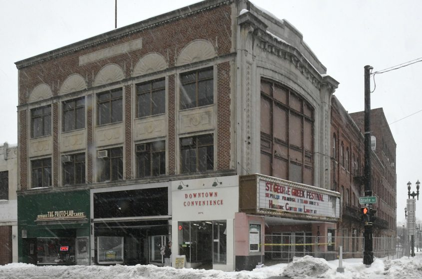 The Kresoe Building at State Street and Erie Boulevard underwent an exterior inspection by city code officials Friday.