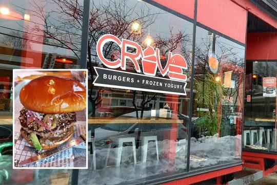 The Sorta Torta Burger at Crave in Albany.