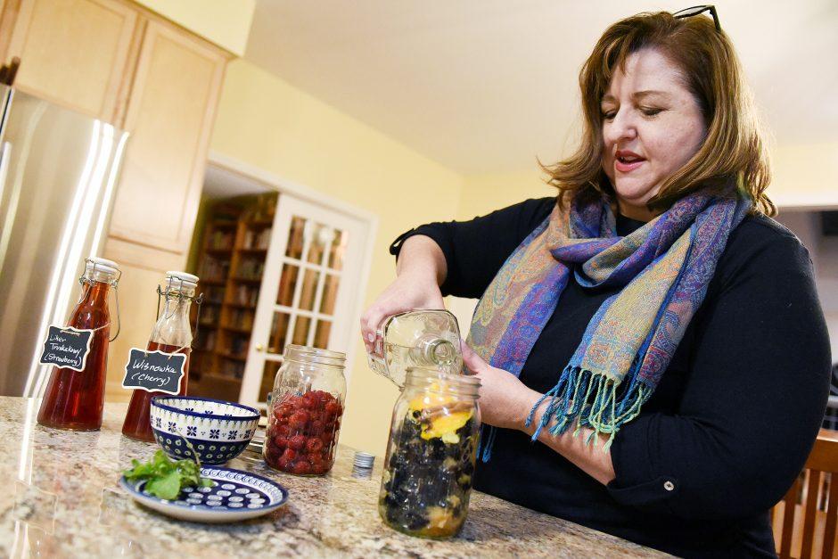 Anntonette Zembrzuski Alberti makes a fresh jezynowka in her Saratoga Springs home, November 8, 2019.