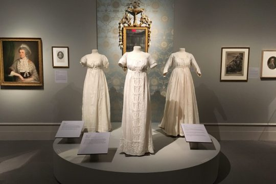 "Exhibition shot of ""Schuyler Sisters & Their Circle"" at the Albany Institute of History and Art."