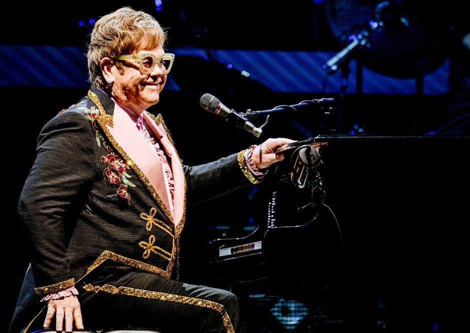Elton John, pictured here at Madison Square Garden, thrilled an Albany audience.