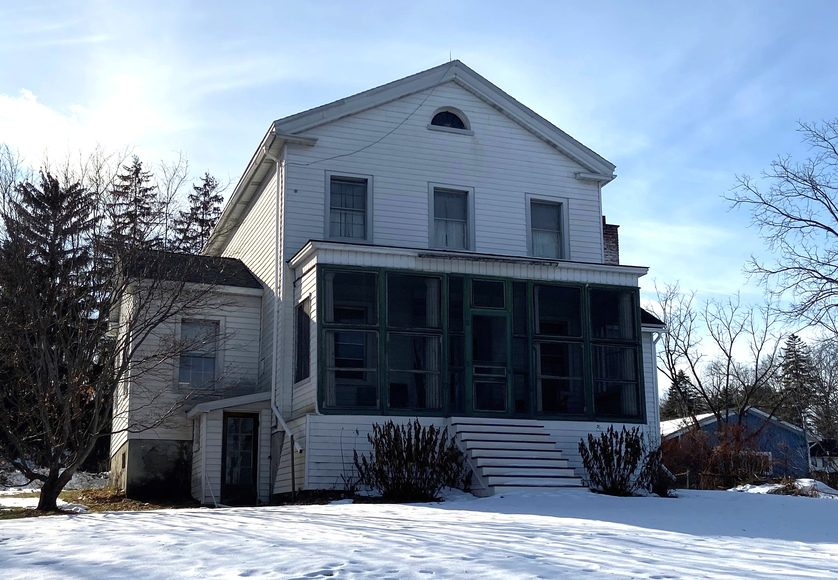 The Stringer house is shown in December