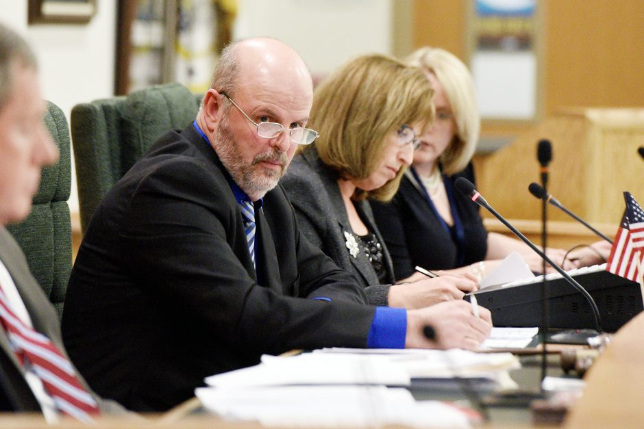 Town of Day Supervisor Preston Allen speaks as the new Saratoga County board chairman Thursday.