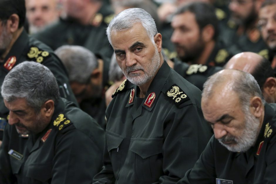 A photo provided by the Office of the Iranian Supreme Leader shows Maj. Gen. Qasem Soleimani in Tehran, Iran, in 2016.