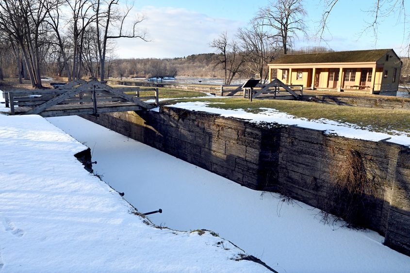 Schoharie Crossing State Historic Site at the Yankee Hill Lock and Putnam's Canal Store off Queen Anne Street are shown..