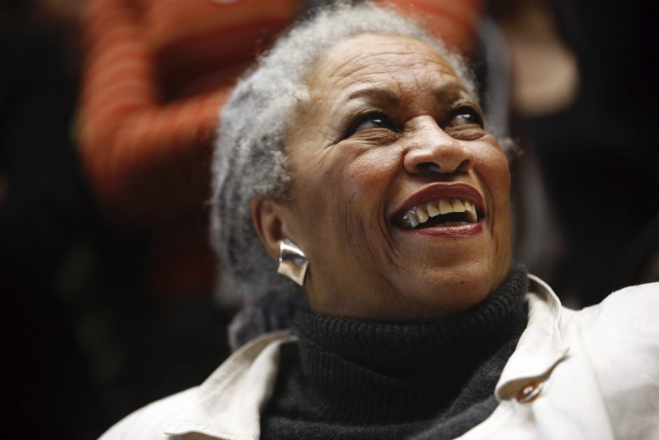 The author Toni Morrison lectures at the Louvre in Paris on Nov. 10, 2006.