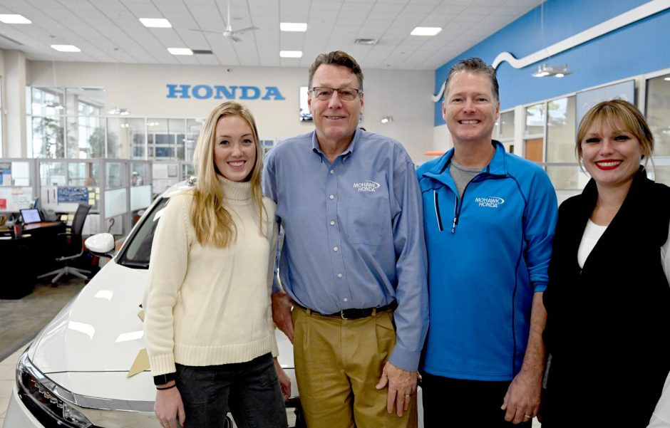 From left, Karly, Jeff, Steve and Lindsey Haraden are shown at Mohawk Honda.