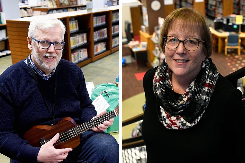 A. Issac Pulver and Karen Bradley are directors of the public libraries in Saratoga Springs and Schenectady, respectively.