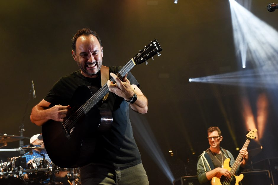 Dave Matthews Band performs on stage for their first of two nights at SPAC in Saratoga Springs on Friday, July 12, 2019.
