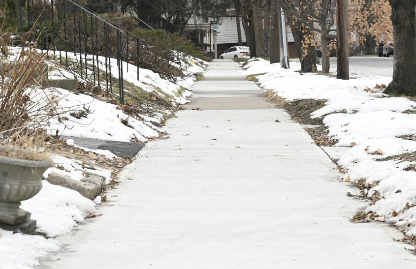 Newly installed sidewalks on Ardsley Road in Schenectady are seen on Tuesday.