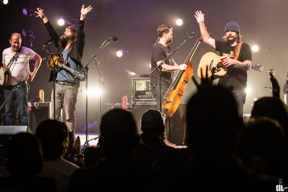 Greensky Bluegrass is shown performing in concert at an earlier show.