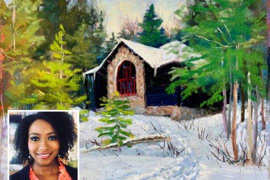 """Camp Santanoni"" by Takeyce Walter (inset)."