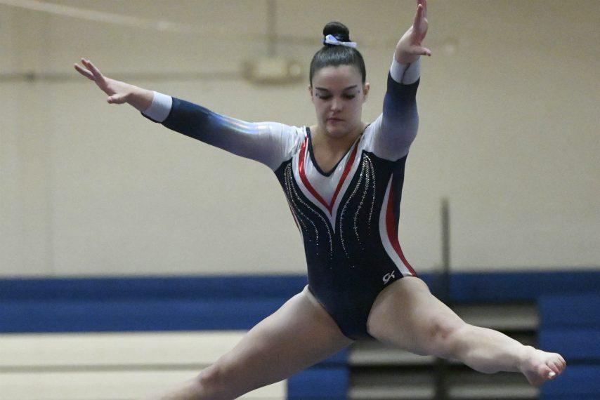 Saratoga junior Sophia Damiano won the Section II all-around title Wednesday night.