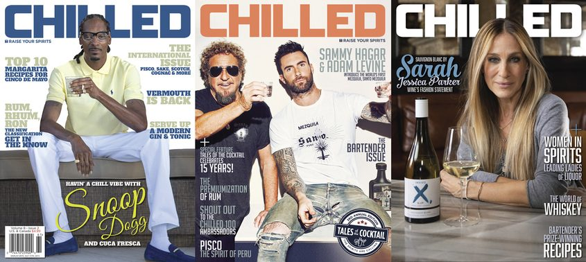 Covers of Chilled magazine.