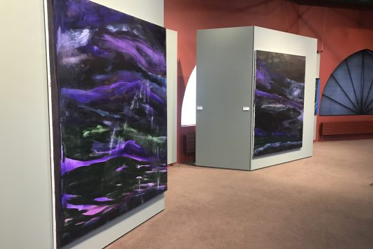 """An exhibition shot of """"Jane Swavely"""" at the Mandeville Gallery."""
