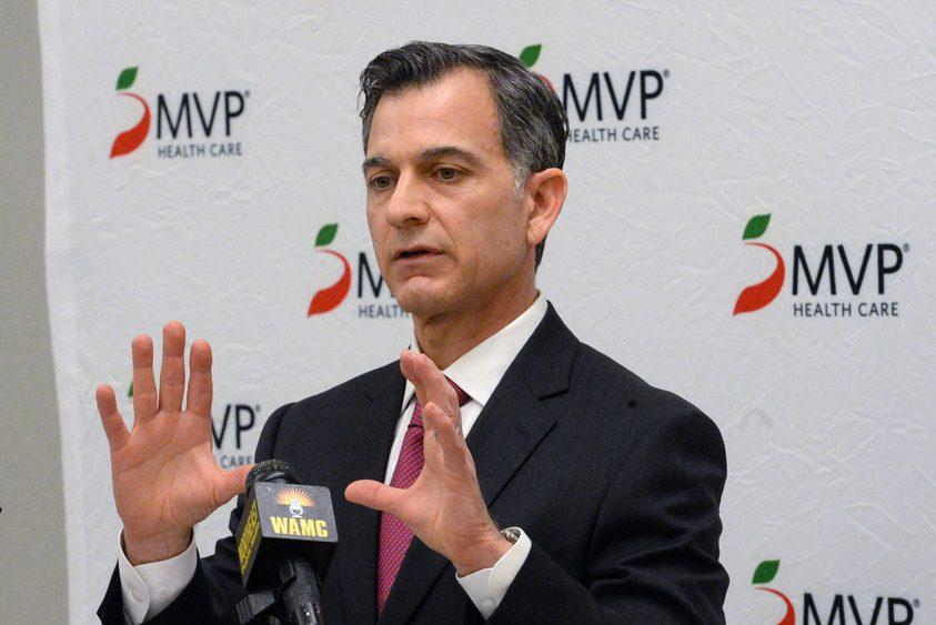 MVP President and CEO Christopher DelVecchio discusses a healthcare collaboration Thursday.