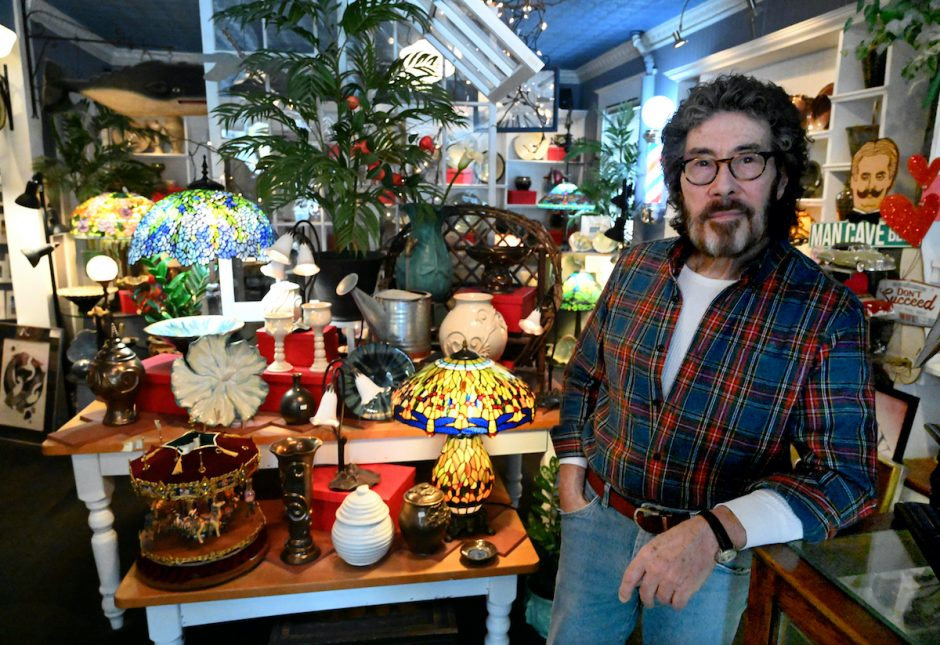 Don Glennon owner of Dragonfly Pottery located at 1849 Van Vranken Ave. in Schenectady.