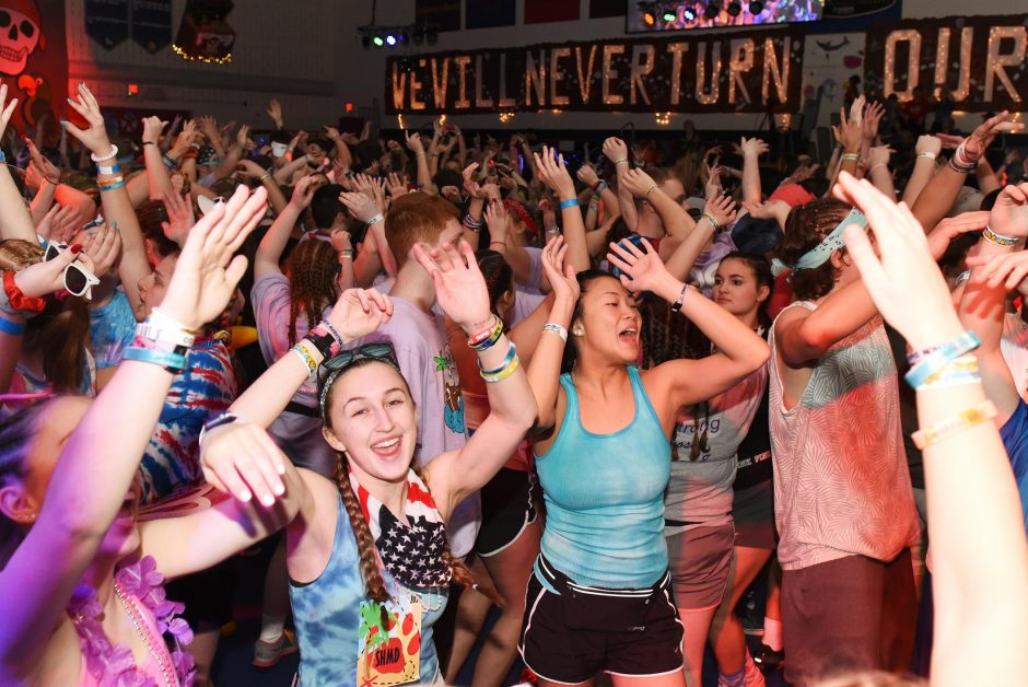 Students dance the night away during the 43rd annual South High Marathon Dance at South Glens Falls High School on Friday.