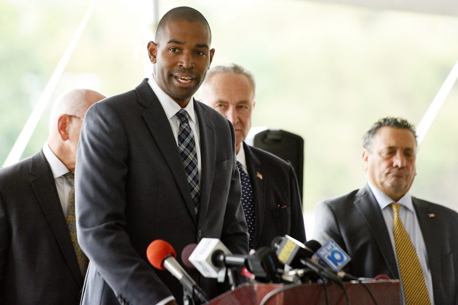 U.S. Rep. Antonio Delgado (NY-19), pictured in Amsterdam in October, released a statement about the case in Ulster County.