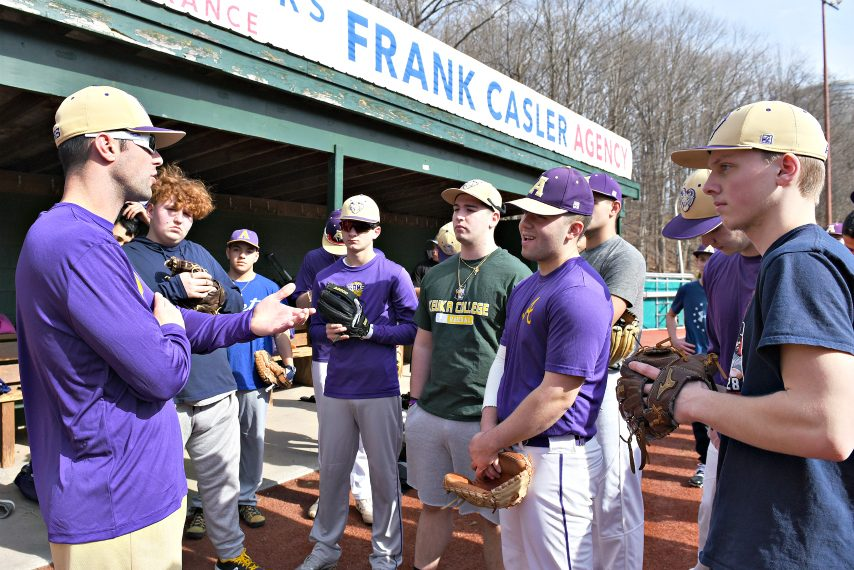 The Amsterdam baseball team gets set for its opening practice of the season on Monday at Shuttleworth Park.