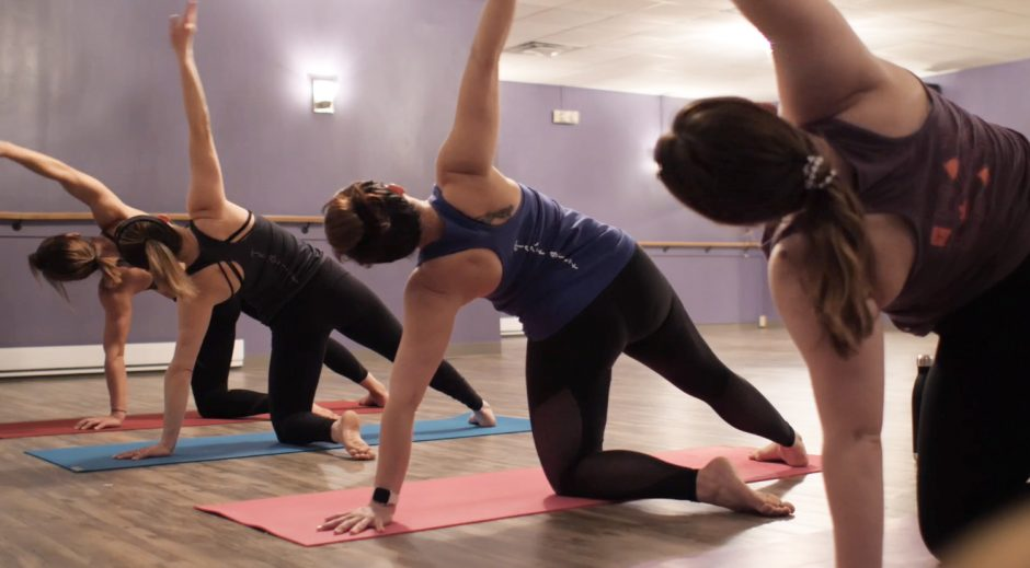 You can exercise along with the Gentle Flow yoga class online at thehotyogaspot.com.