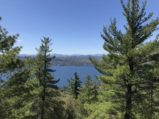The Buck Mountain summit offers great views of Lake George and the Central Adirondacks.