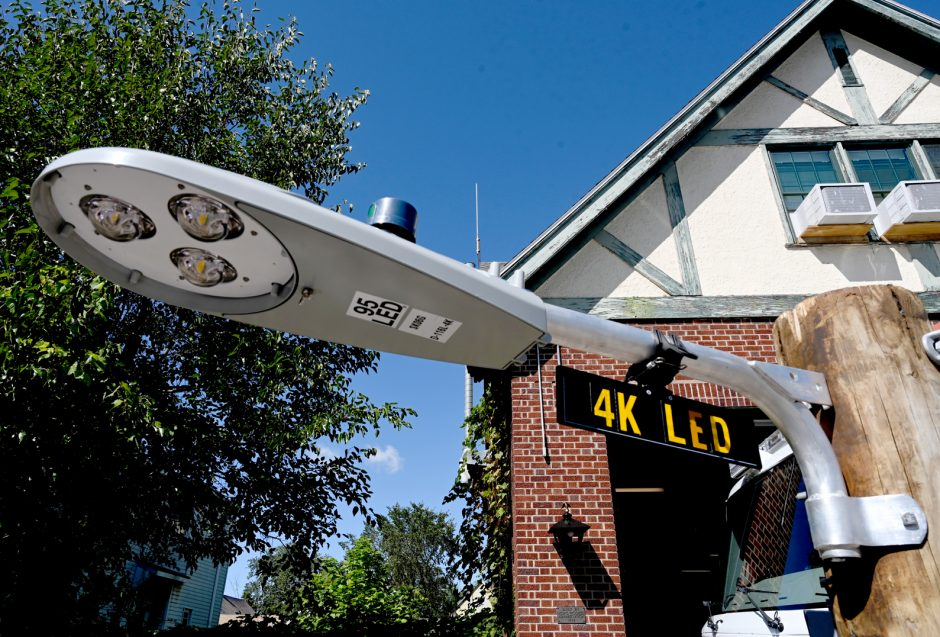 A advanced street light set up for Smart Cities devices is shown last year in Mont Pleasant.