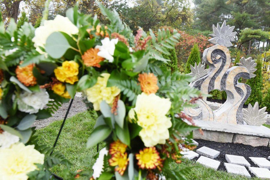 The Schoharie limo crash memorial as seen in October