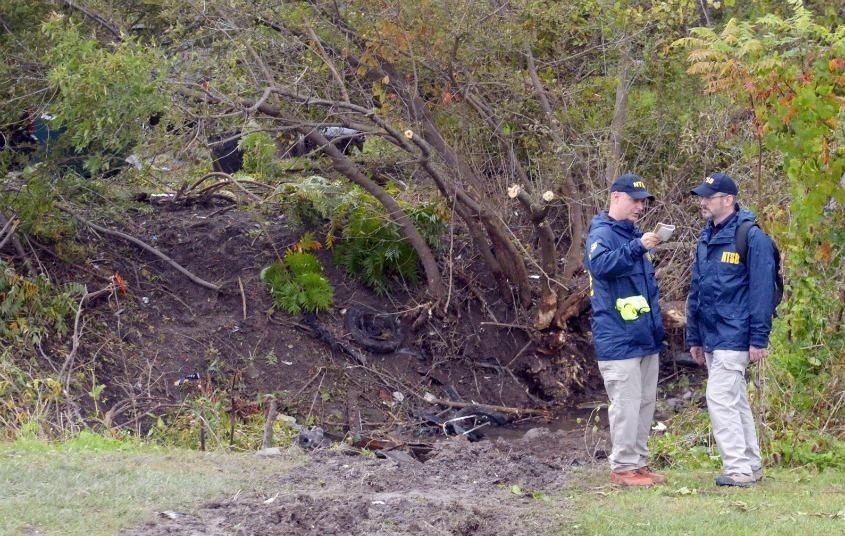 Investigators at the scene in October 2018