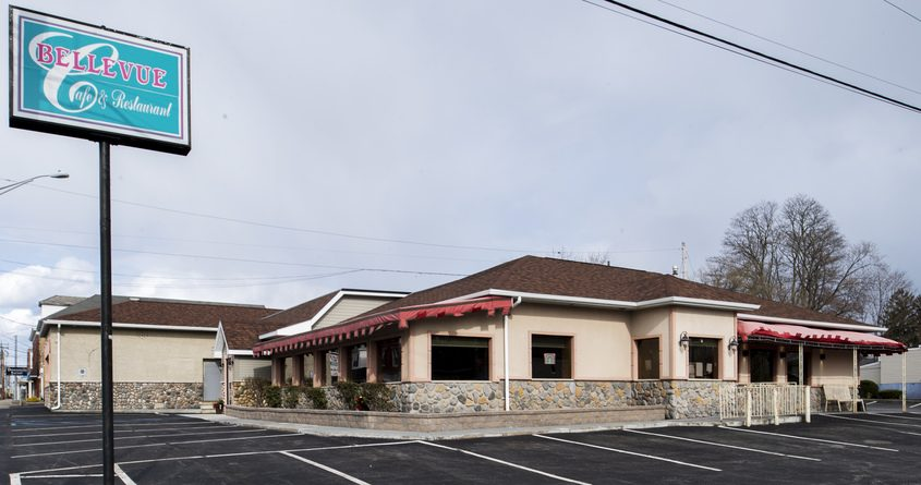 The Bellevue Cafe & Restaurant at Broadway and Draper Avenue in Schenectady is shown Thursday.