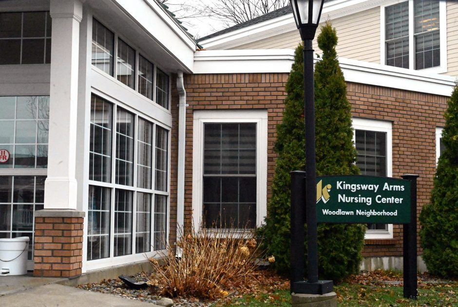 The Kingsway Arms Nursing Center in Schenectady is pictured in March.