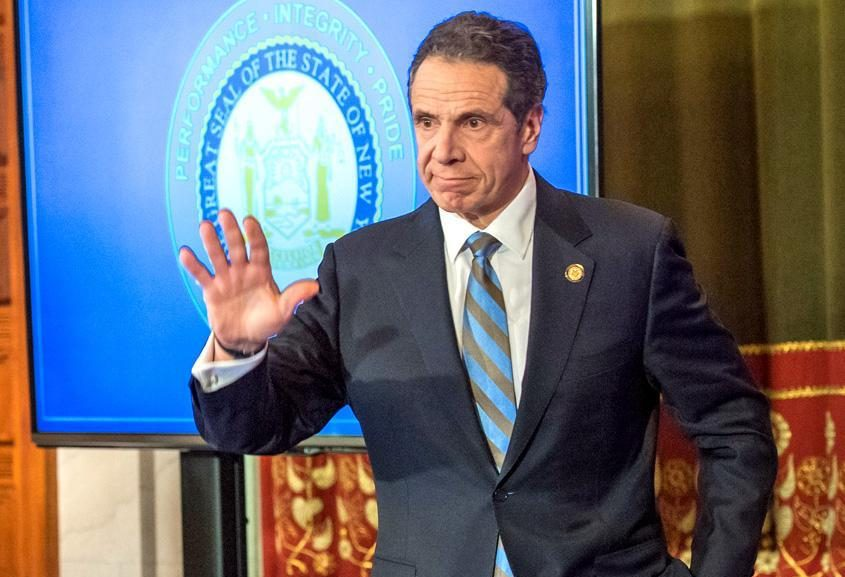 Gov. Andrew Cuomo wraps up his COVID-19 briefing Thursday.