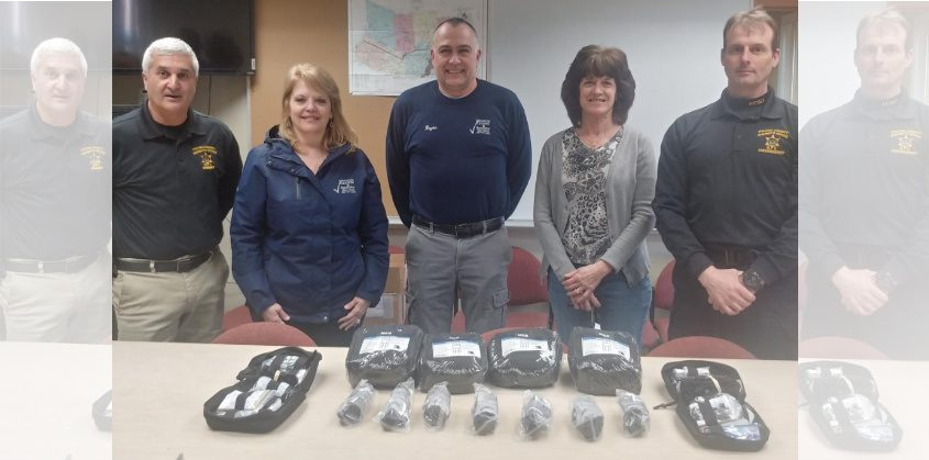 The donation of first aid kits to the Fulton County Sheriff's Office