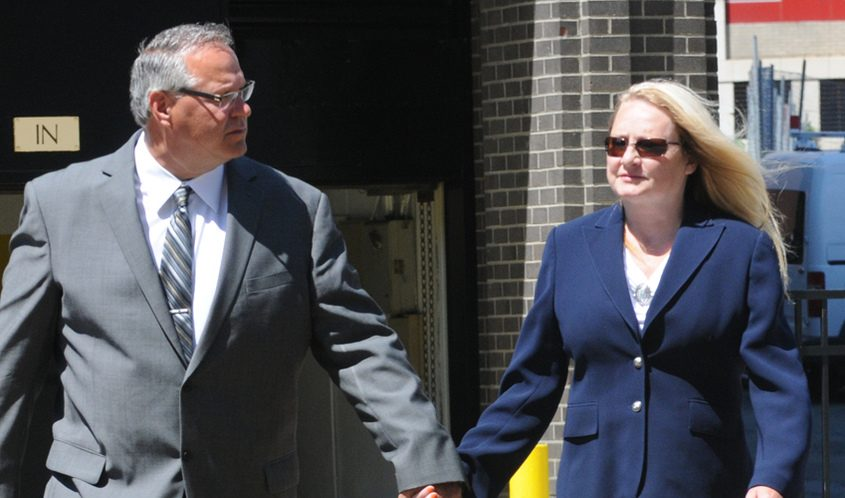 Larry Wormuth, left, his wife, former Halfmoon supervisor Melinda Wormuth, in 2015.
