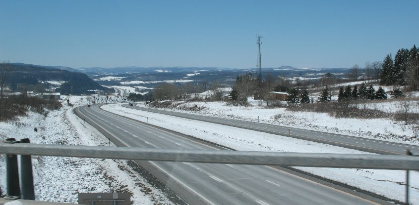 A section of Interstate 88 looking toward Schoharie County