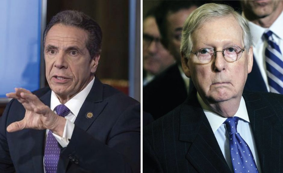 Gov. Andrew Cuomo, left, and U.S. Senate Majority Leader Mitch McConnell