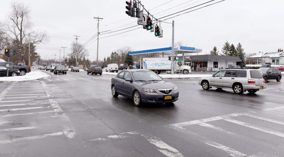 The intersection of Nott Street and Balltown Road in Niskayuna is pictured in January 2019.