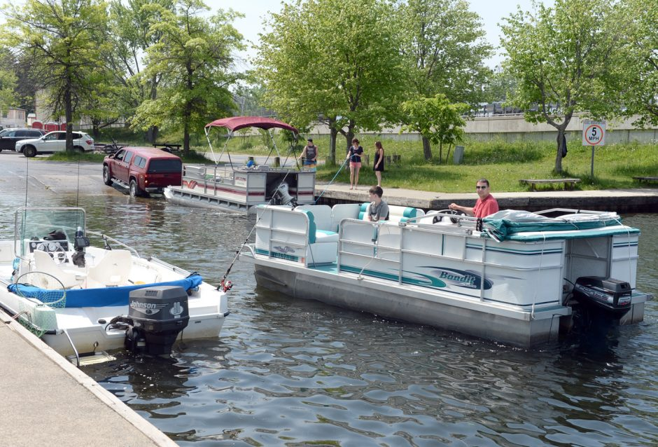 Boaters are seen at the Saratoga Lake State Boat Launch in this 2016 file photo.