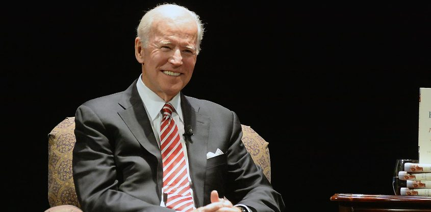 Joe Biden at Proctors in Schenectady in November 2017
