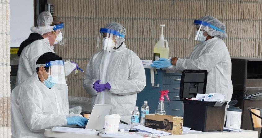 Diagnostic testing for COVID-19 is underway Monday at Ellis Medicine's McClellan Street campus.
