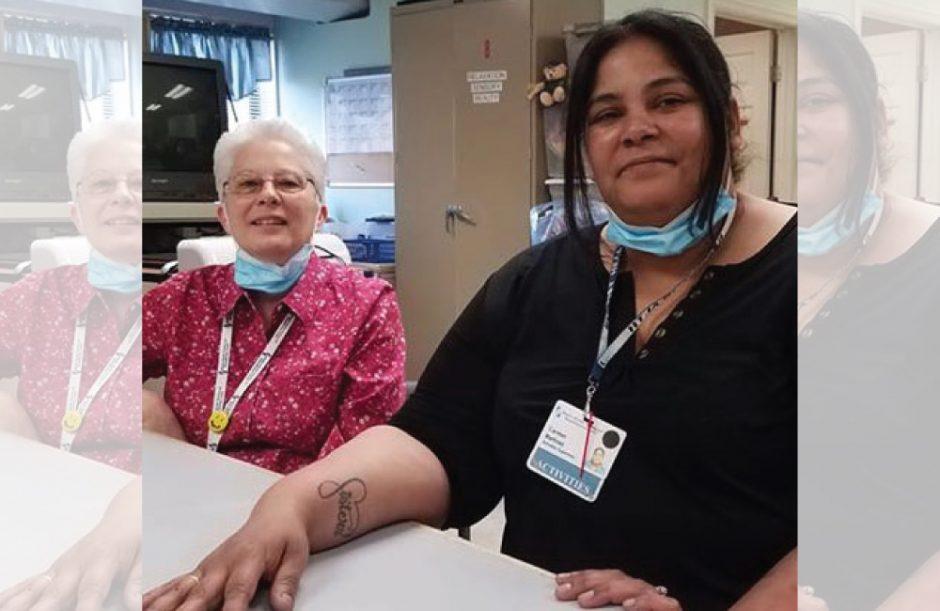 Barb Bradt, left, and Carmen Martinez at Baptist Health Nursing & Rehabilitation Center.