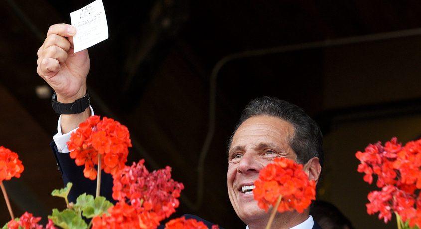 Gov. Andrew Cuomo at Saratoga in 2019