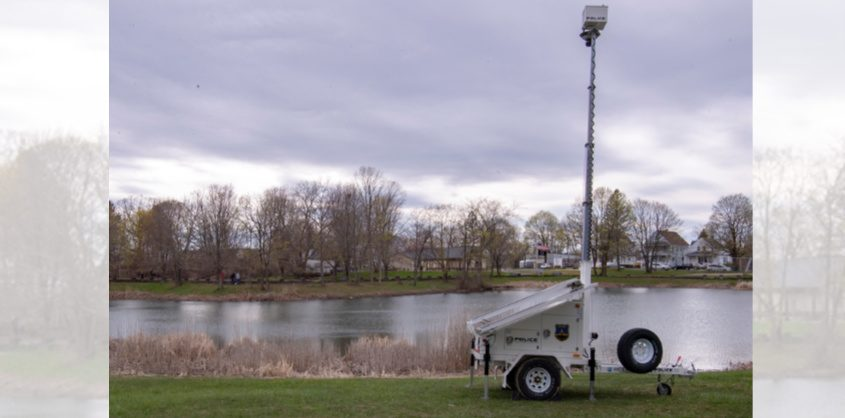 A camera placed at Steinmetz Park this week