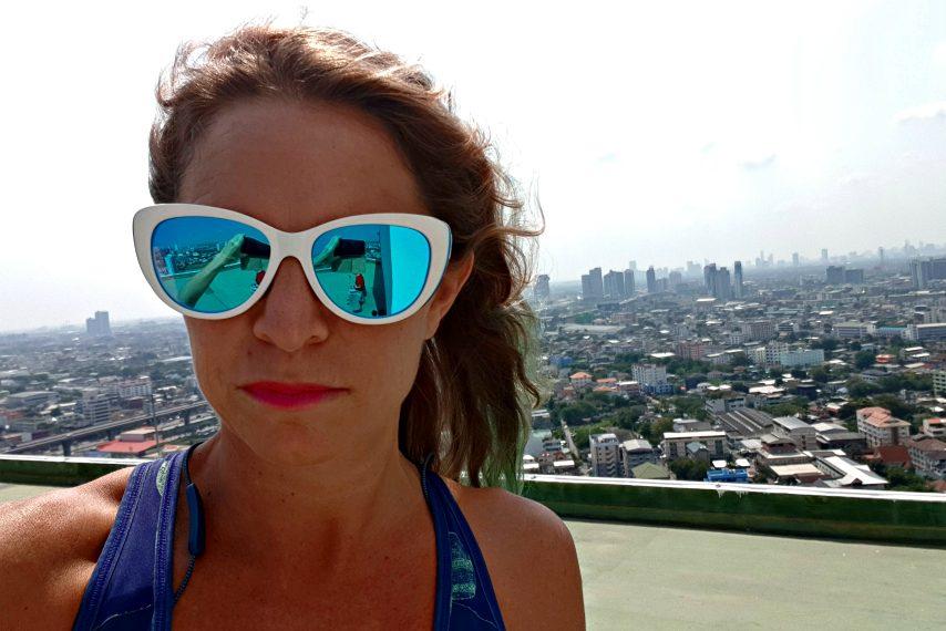 Clifton Park native Tara Savage ran 50 kilometers on her Bangkok rooftop for COVID-19 relief.