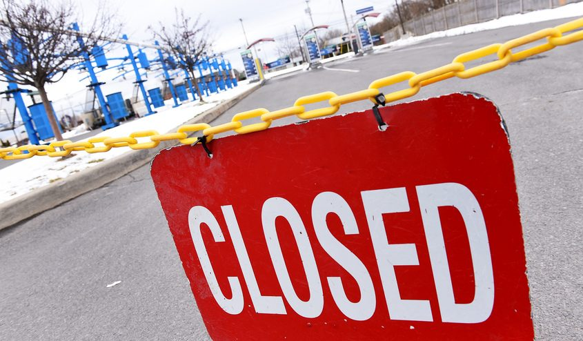 Hoffman's Carwash off Route 30 in Amsterdam March 24, closed due to closures from COVID-19